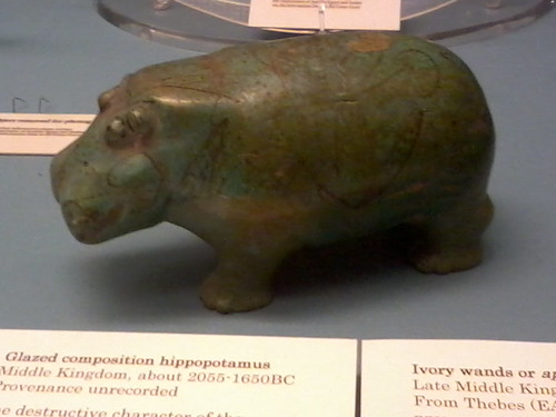 Blue Hippo in the british museum