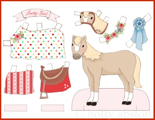 horse paperdoll