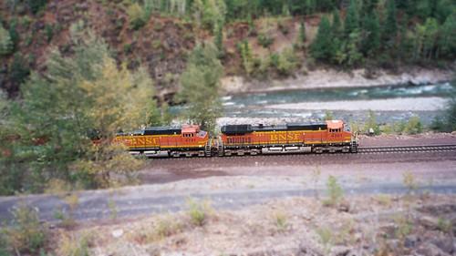 fake miniature train