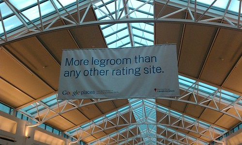 A Google places banner at PDX
