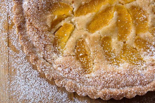 orange-almond tart