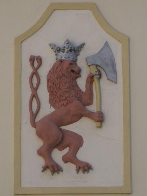 Czech Lion house sign