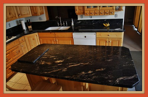 Black Cosmic Kitchen  Mele Tile and Natural Stone