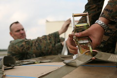 Marines working to secure supplies