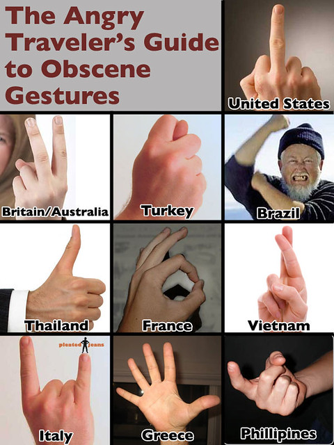 Travelers' Guide to Obscene Gestures