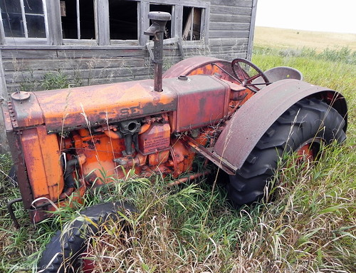 Abandoned Tractor and Chicken Coop, Rural ND