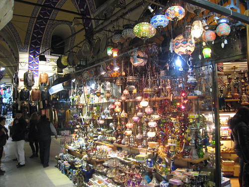 Colorful hanging lights in the Grand Bazaar