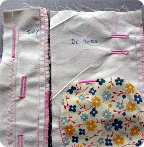 Sewing samples