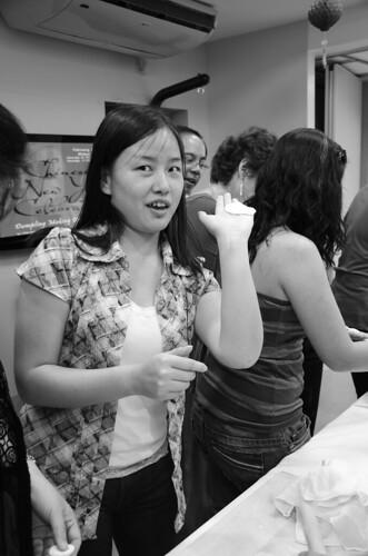 Amy Showing off proud dumpling