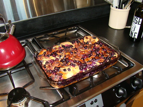Blueberry pecan french toast.