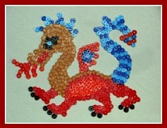 Chinese Dragon in Hama Beads