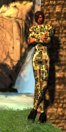 Male Camo-Suit