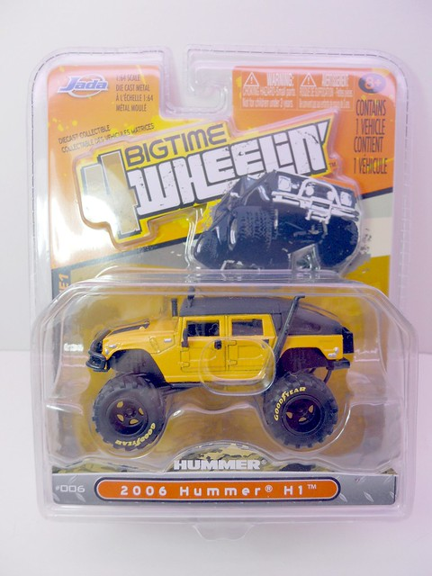 jada toys bigtime 4 wheelin 2006 hummer h1 (1)