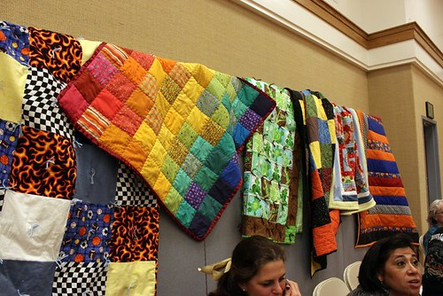 A few collected quilts for children in need