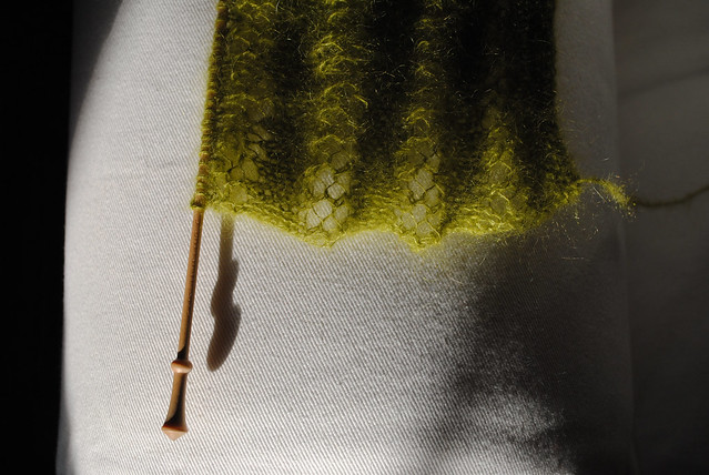 sunlight and knitting