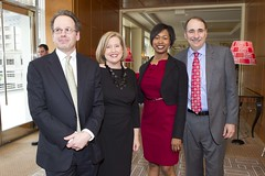 Fred Vogelstei, Evelyn Nussenbaum, and David Axelrod
