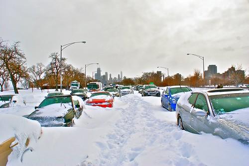 Frozen Lake Shore Drive