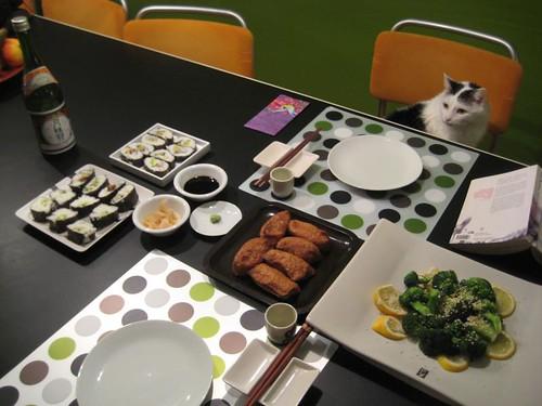 Japanese dinner, Sunday February 13th 2011