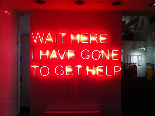 Wait Here I Have Gone To Get Help