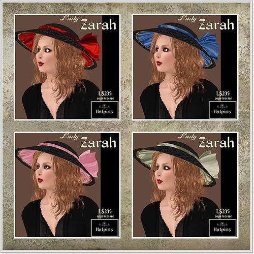 Hatpins - Lady Zarah