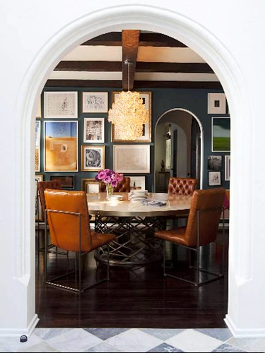 nate berkus dining room gallery wall