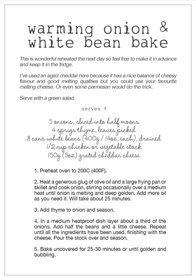 onion & white bean bake recipe