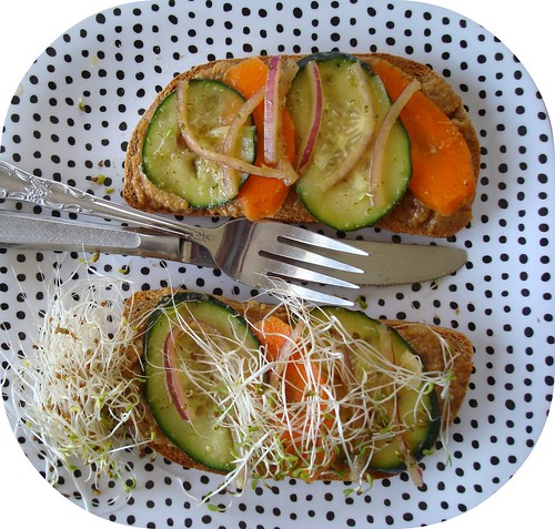 Thai-inspired Peanut Butter and Veggie Sandwiches