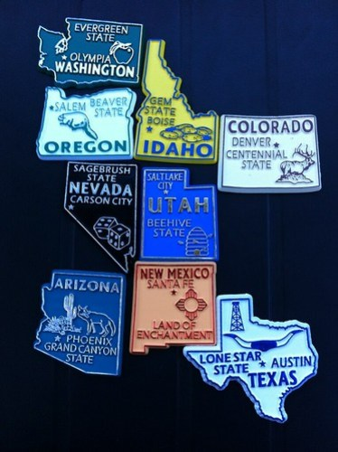 All the states our roadtrip took us through #ChevySXSW