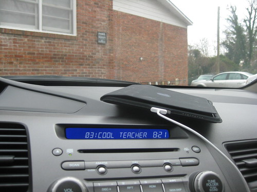Cool Teacher podcast from my iPad to car stereo system via USB