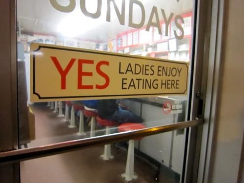 Yes Ladies Enjoy Eating Here