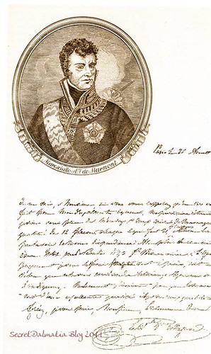 Marshal Marmont's note on purchasing Maraschino in 1810.