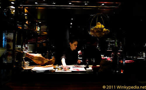 Show kitchen at L'atelier de Joel Robuchon
