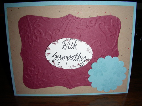 Sympathy Card March '11 by Artisan All Unwound