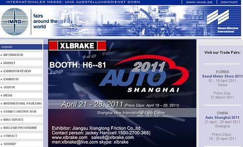 SHANGHAI AUTO SHOW xlbrake 2011  xlbrake.com@gmail.com by jackeyhan