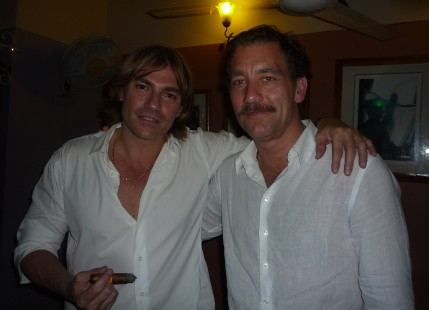 Alejandro Robaina and Clive Owen