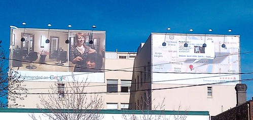 Split Google places billboard for Pulse Salon