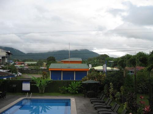 The pool area at Hotel San Bosco