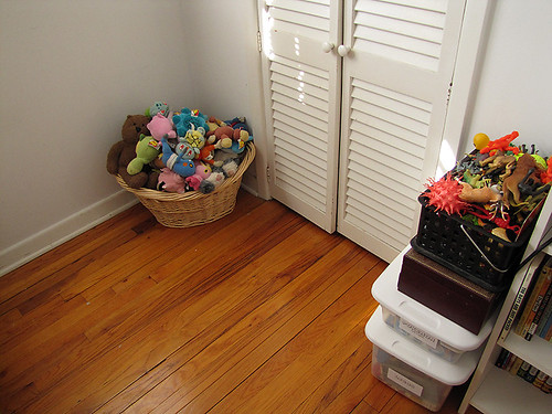 Project Simplify week 3 - In front of their closet after