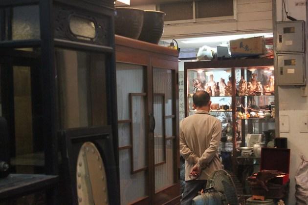 Interior de las galerías de antigüedades