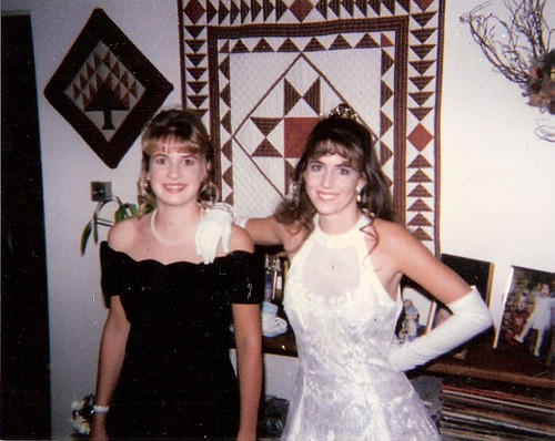 Me and April in High School going to Homecoming