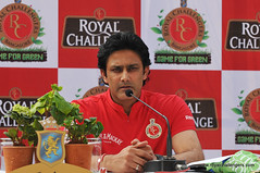 Anil Kumble during the press conference in Ban...