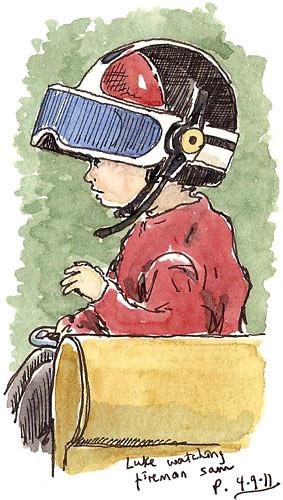 luke in police helmet
