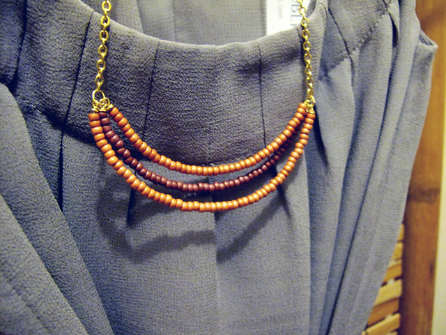beaded pink necklace by meee