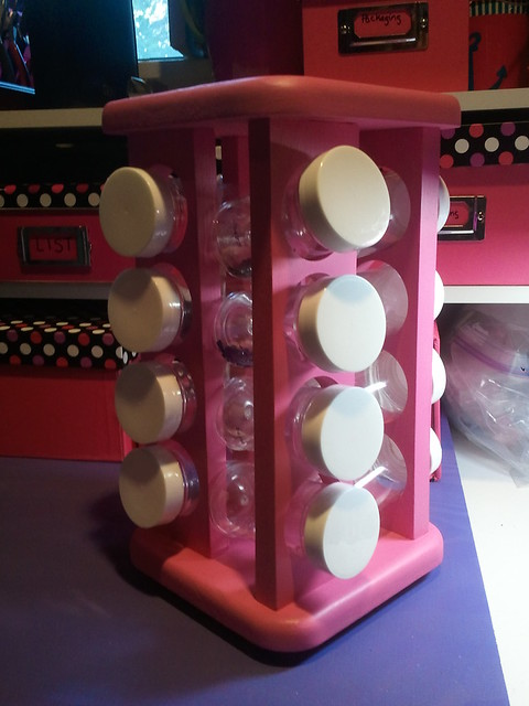 Newly painted bead organizer