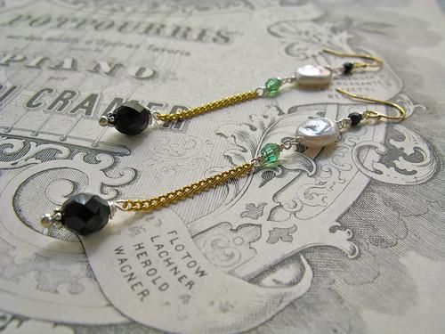 Everyday Poetry long earrings