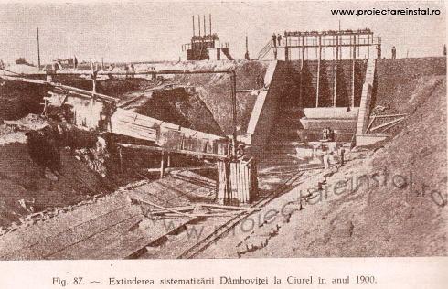 poza 06 - Extinderea sistematizatii Dambovitei la Ciurel in anul 1900
