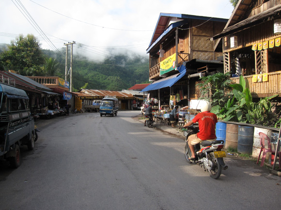 Street in Northern Laos