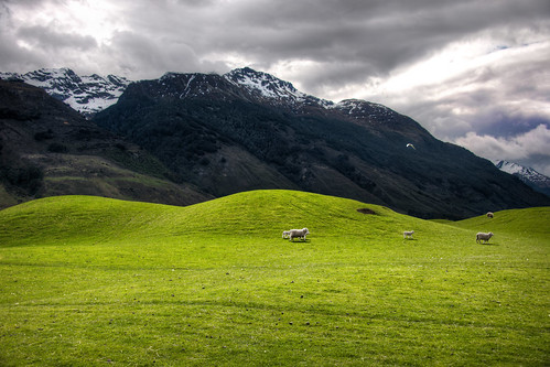 The Soft Hills on the way to Paradise, New Zealand by Stuck in Customs
