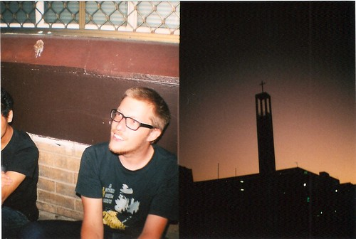 eli & church at dusk