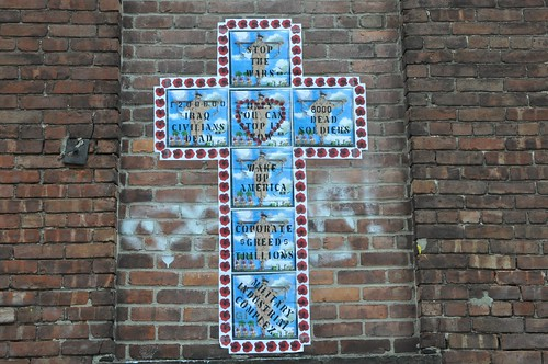 Crucifixion street art